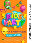 super flyer for kids party in... | Shutterstock .eps vector #1175772661
