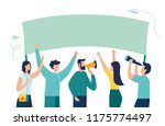 vector illustration  holding... | Shutterstock .eps vector #1175774497