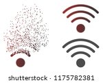 wi fi source icon in dissolved  ... | Shutterstock .eps vector #1175782381
