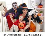 mother  father and their kids... | Shutterstock . vector #1175782651