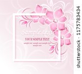 wedding card or invitation with ...   Shutterstock .eps vector #1175783434