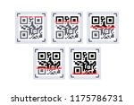 qr code laser scanning   Shutterstock .eps vector #1175786731
