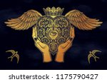 hands holding a decorative... | Shutterstock .eps vector #1175790427