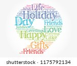 happy 9th birthday word cloud... | Shutterstock .eps vector #1175792134