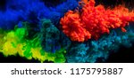 mix of coloured inks in water... | Shutterstock . vector #1175795887