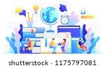 education online concept... | Shutterstock .eps vector #1175797081