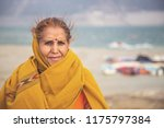 portrait of an old indian woman ... | Shutterstock . vector #1175797384