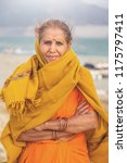 portrait of an old indian woman ... | Shutterstock . vector #1175797411
