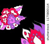 hand drawn elegant design with... | Shutterstock .eps vector #1175800114