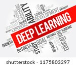 deep learning word cloud... | Shutterstock .eps vector #1175803297
