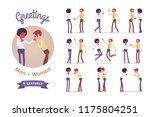 male  female multicultural...   Shutterstock .eps vector #1175804251
