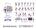 male teacher ready to use... | Shutterstock .eps vector #1175804317