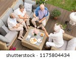 top view of old friends reunion ... | Shutterstock . vector #1175804434