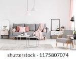 patterned wooden armchair in...   Shutterstock . vector #1175807074