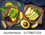 sandwiches with rye bread ... | Shutterstock . vector #1175807224