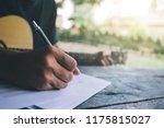 Songwriter Thinking And Writin...