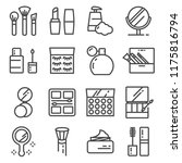 beauty and cosmetic line icons... | Shutterstock .eps vector #1175816794