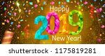 happy new year 2019 greeting... | Shutterstock .eps vector #1175819281