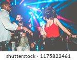 happy friends having party in... | Shutterstock . vector #1175822461