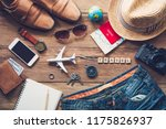 travel clothing accessories...   Shutterstock . vector #1175826937