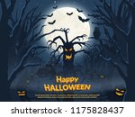 holiday poster for halloween.... | Shutterstock .eps vector #1175828437