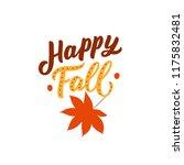autumn element hand drawn... | Shutterstock .eps vector #1175832481
