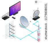 vector tv antenna  realistic... | Shutterstock .eps vector #1175838031