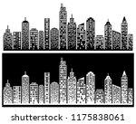 city skyline  city building... | Shutterstock .eps vector #1175838061