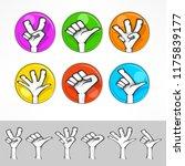 gestures of cartoon human hand... | Shutterstock .eps vector #1175839177