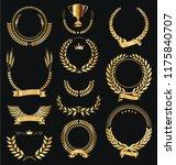 retro vintage golden laurel...   Shutterstock .eps vector #1175840707