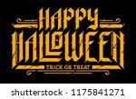 happy halloween gothic... | Shutterstock .eps vector #1175841271