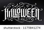 halloween hand drawn gothic... | Shutterstock .eps vector #1175841274