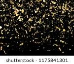 gold glitter realistic confetti ... | Shutterstock .eps vector #1175841301