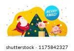 vector flat merry christmas...   Shutterstock .eps vector #1175842327