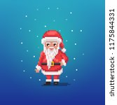 pixel art santa claus personage. | Shutterstock .eps vector #1175844331