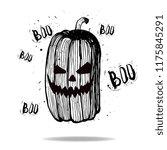 halloween pumpkin  boo  vector...   Shutterstock .eps vector #1175845291