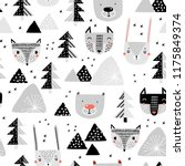 seamless pattern with a... | Shutterstock .eps vector #1175849374