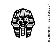 vector icon for egyptian face | Shutterstock .eps vector #1175851807