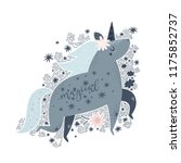 cute unicorn with lettering...   Shutterstock .eps vector #1175852737