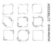 set of vector vintage frames on ...   Shutterstock .eps vector #1175853334