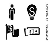 business icons set. indoors ... | Shutterstock .eps vector #1175853691
