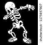 skeleton dabbing t shirt vector ... | Shutterstock .eps vector #1175857807
