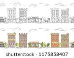 city line vector illustration... | Shutterstock .eps vector #1175858407