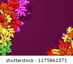 autumn paper background ... | Shutterstock .eps vector #1175861371