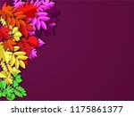 autumn paper background ... | Shutterstock .eps vector #1175861377