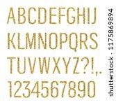 glittering letters. narrow sans ... | Shutterstock .eps vector #1175869894