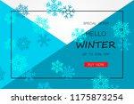 winter sale banner with... | Shutterstock .eps vector #1175873254