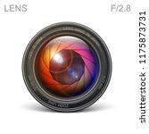 set camera lens object glass... | Shutterstock .eps vector #1175873731