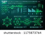 data analysis  visualization... | Shutterstock .eps vector #1175873764