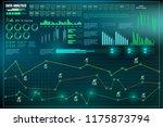 hud user interface. data... | Shutterstock .eps vector #1175873794